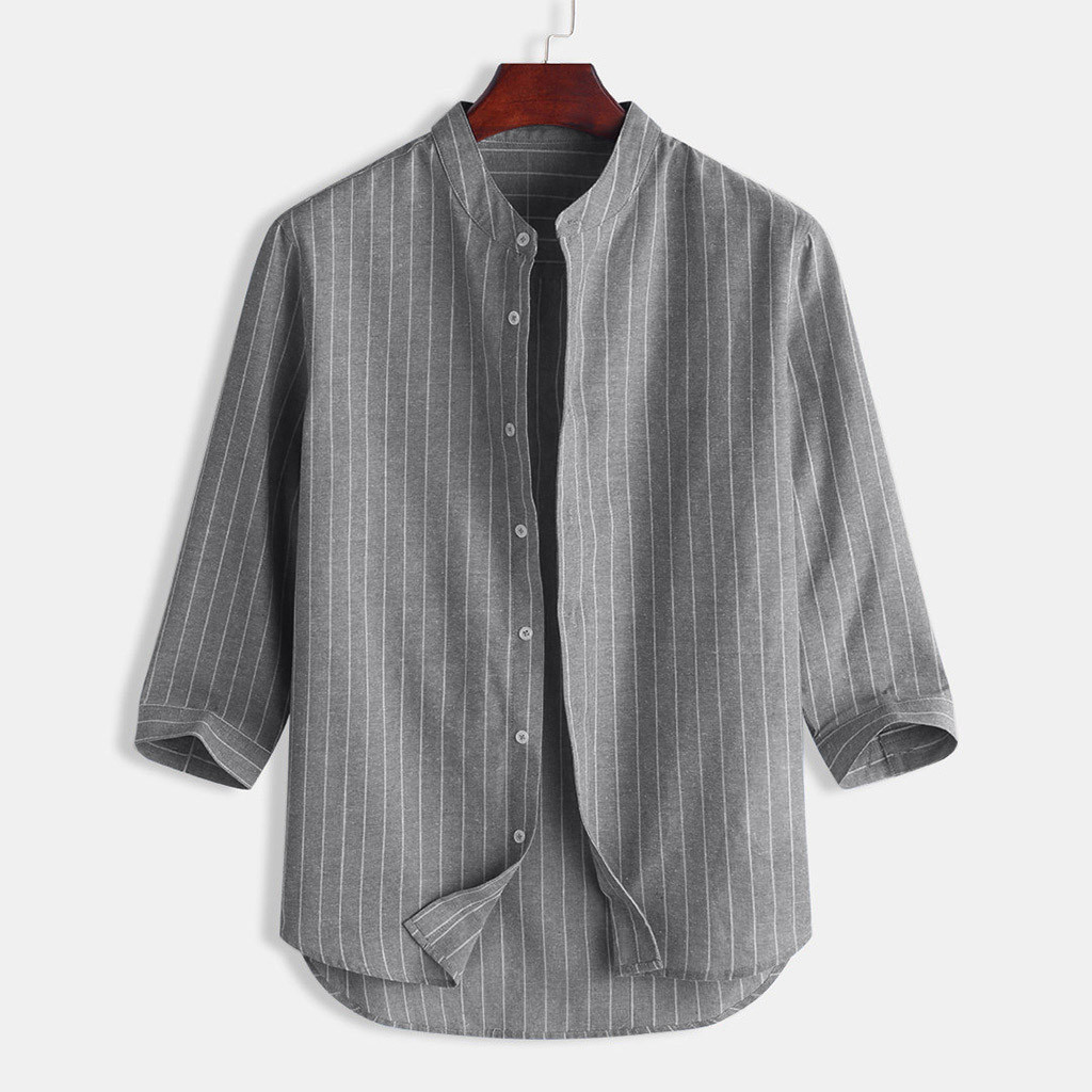 Men Plus Size Shirt,Mens Long Sleeve Shirts Cotton Button Down Lapel Collar Cat Summer Tops Blouse