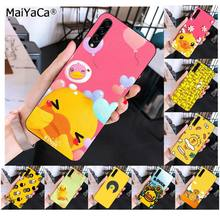 MaiYaCa Cute Yellow Duck Animals Unique Design Black Phone Case for Samsung A10 20s 71 51 10s 20 40 50 70 A9 2018(China)