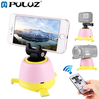 PULUZ Electronic 360 Degree Tripod Head Rotating Pan Head Rotation Panoramic with Remote Controller for iPhone Smartphone Camera