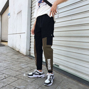 Men cargo pants 2020 new arrival spring and autumn patchwork pockets letter male ankle-length pants Korean style hot sale n55 men cargo pants 2019 new arrival spring and autumn black pockets plus size male ankle length pants korean style hot sale n07