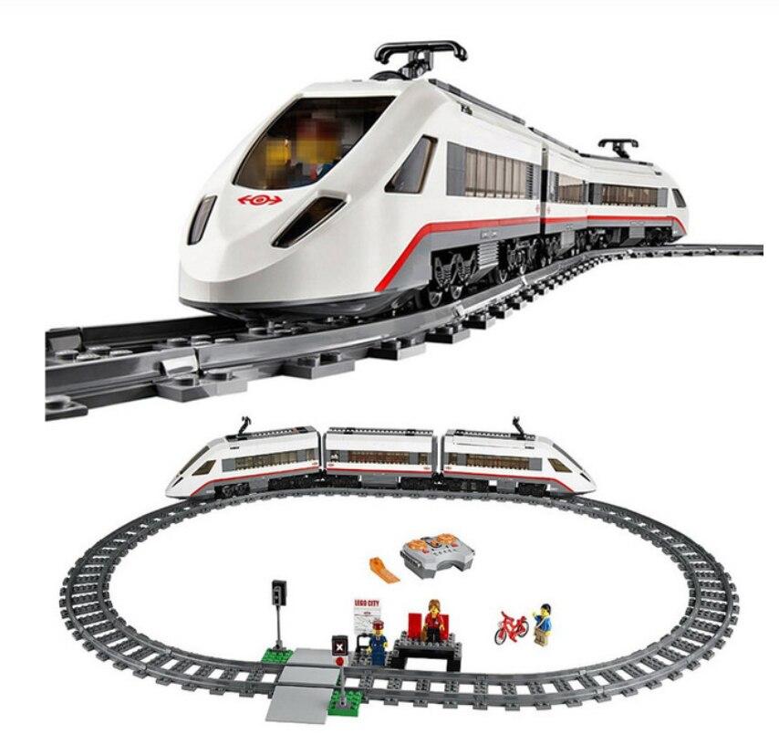 City Street View Series Cargo Trains Motorized Remote Control Cargo Train Building Blocks Compatible 82008 Bricks Kids Toys Gift