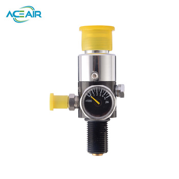 HPA 4500psi Compressed Air Tank Regulator Valve Output Pressure 1800PSI M18*1.5 SILVER