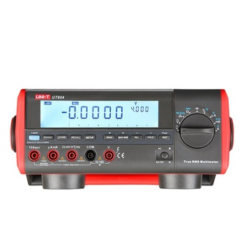 UNI-T UT804 Desktop Benchtop Digital Multimeters Volt Amp Ohm Capacitance Hz 39999 Counts Tester High-Accuracy LCD Display uni t ut151b lcd digital multimeter ac dc volt amp ohm capacitance tester