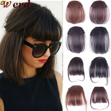 Werd Clip In Hair Bangs Hairpiece Synthetic Fake Bang Hair P