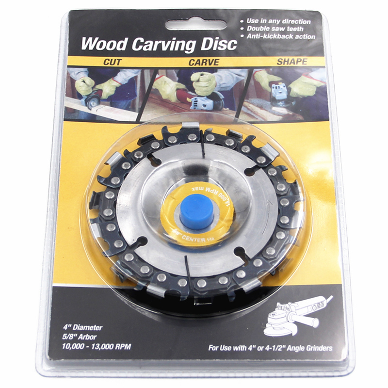 New-Angle Grinder With 4 Inch Chain Plate 14 Tooth Wide Tooth Woodworking Chain Saw Cutting Piece Wood Slotted Serrated Piece
