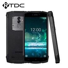 Doogee S55 Android 8.0 5.5 Mobiele Telefoon 4 Gb Ram 64 Gb Rom 5500 Mah MTK6750T Octa Core Waterdicht vingerafdruk Dual 13 + 8 Mp Ota