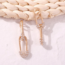 Brincos Earings Aretes Fashion Statement 2019 Geometric Earrings For Women Creative Safety Pin Alloy Dangle Party Gifts