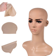 Funny latex Skin Fake Bald Head Unisex Fancy film Party Dress Skin head Wig Cap Latex Mask Hat(China)