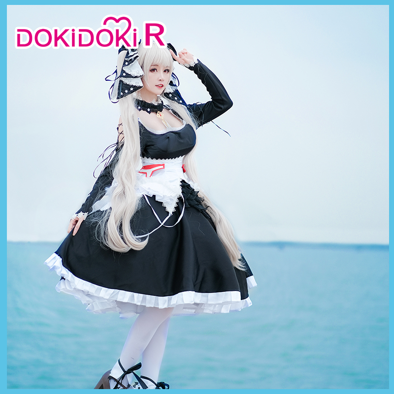 DokiDoki-R Azur Lane Formidable Cosplay Costume Women Dress Azur Lane Cosplay  Formidable Costume Halloween