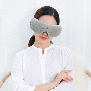 Image 3 - Youpin Momoda 5V 5W 3Modes Rechargeable Folding Eye Massager Graphene Thermostatic Heating Kneading Bluetooth Smart Eye Mask