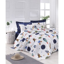 %100 Cotton Natural Pique Single Pike Spacex Navy 160x235cm