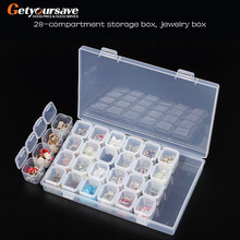 12/28 Slots Diamond Painting kits Plastic Storage Box Nail Art Rhinestone Tools Beads Storage Box Case Organizer Holder kit(China)