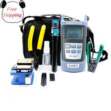Fiber Optic FTTH Tool Kit Mit Abisolieren Zangen Und Miller der Zangen Fiber Cleaver Und Optische Power Meter 5km red Laser Pointer