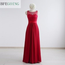 Chiffon Beading Scoop Sleeveless Floor-Length Mother of the bride dress Custom made