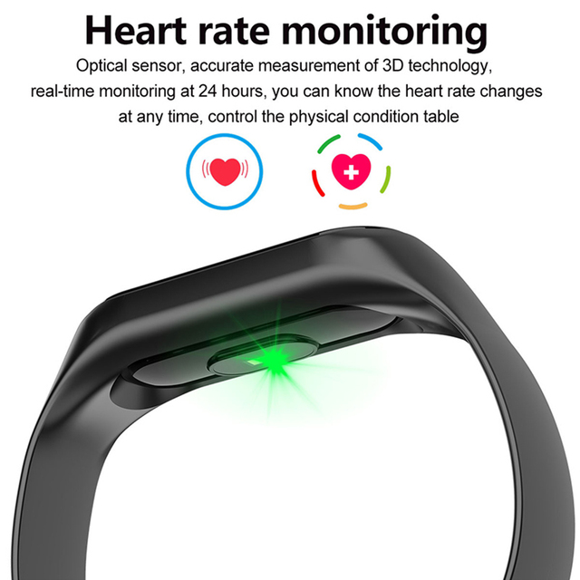 Doolnng M3 Plus Sport Fitness tracker Watch Smartband Smart Bracelet Blood Pressure Heart Rate Monitor Smart band Wristband Men 2