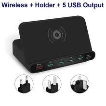 Быстрое беспроводное зарядное устройство Qi для samsung S10 S9 S8 S7 S6 iPhone 8 X XS MAX QC3.0 быстрое зарядное устройство 3,0 USB зарядное устройство Беспроводное зарядное устройство