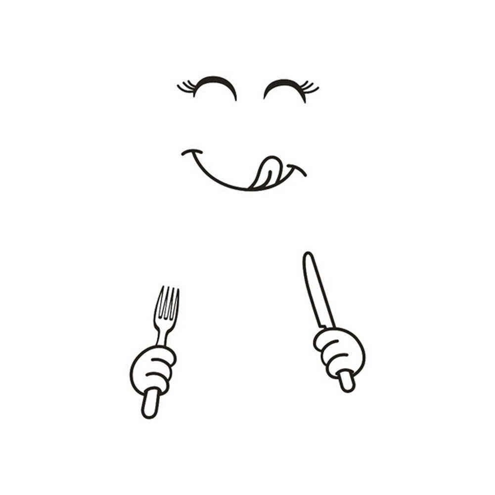 Nouvelle mode drôle amovible mignon PVC dessin animé Smiley autocollant mural cuisine réfrigérateur Art autocollant