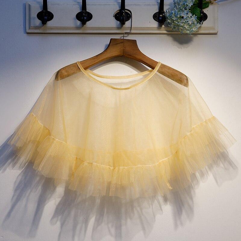 Gold Wedding Cape Bolero Mariage Party Evening Dress Cape Short Bolero Women Shrug Bridal Wrap Shawl Wedding Accessories