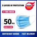 STOCK de máscara anticontaminación 3 Laye, máscara de protección contra el polvo, Máscaras faciales desechables, máscara de seguridad de filtro de polvo desechable de bucle de oreja elástica