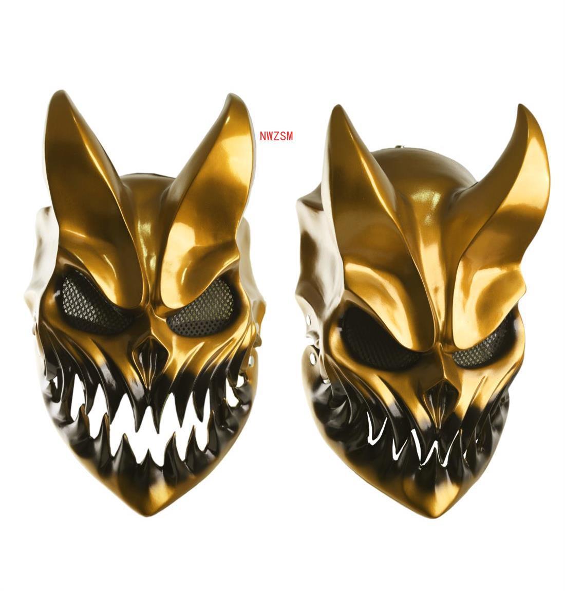 Маска на Хэллоуин убойное преимущество смертельный металлик малыш темноты разрушение шиколай демон маски жесткий смертельный элемент кос...