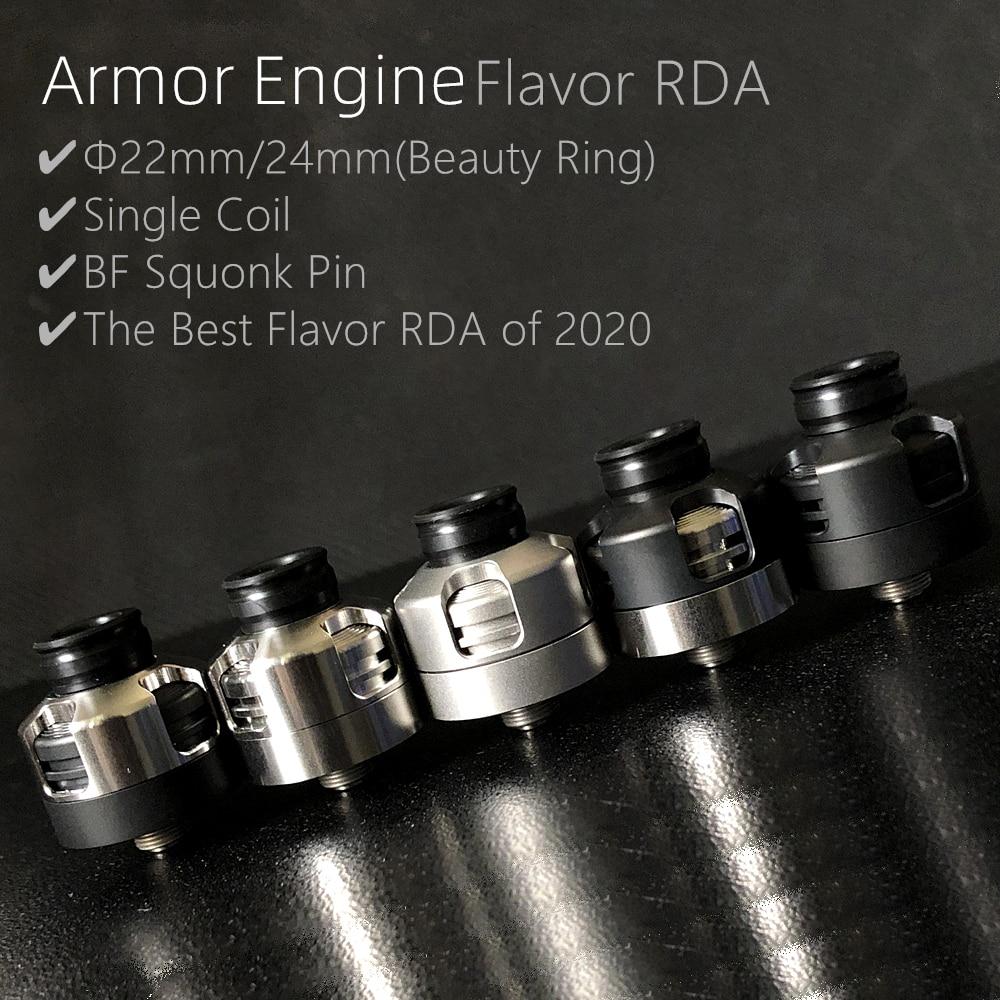 Vape Armor Engine flavor RDA Atomizer Single Coil RDA MTL 22mm 24mm Le Dripper Rebuilding Dripping Tank 510 squonk BF PIN