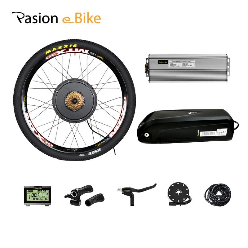 52v12. 8ah батарея для электровелосипеда с 48 в 1500 Вт комплект для переоборудования электрического велосипеда 52 В батарея 48 в Набор для электрове...