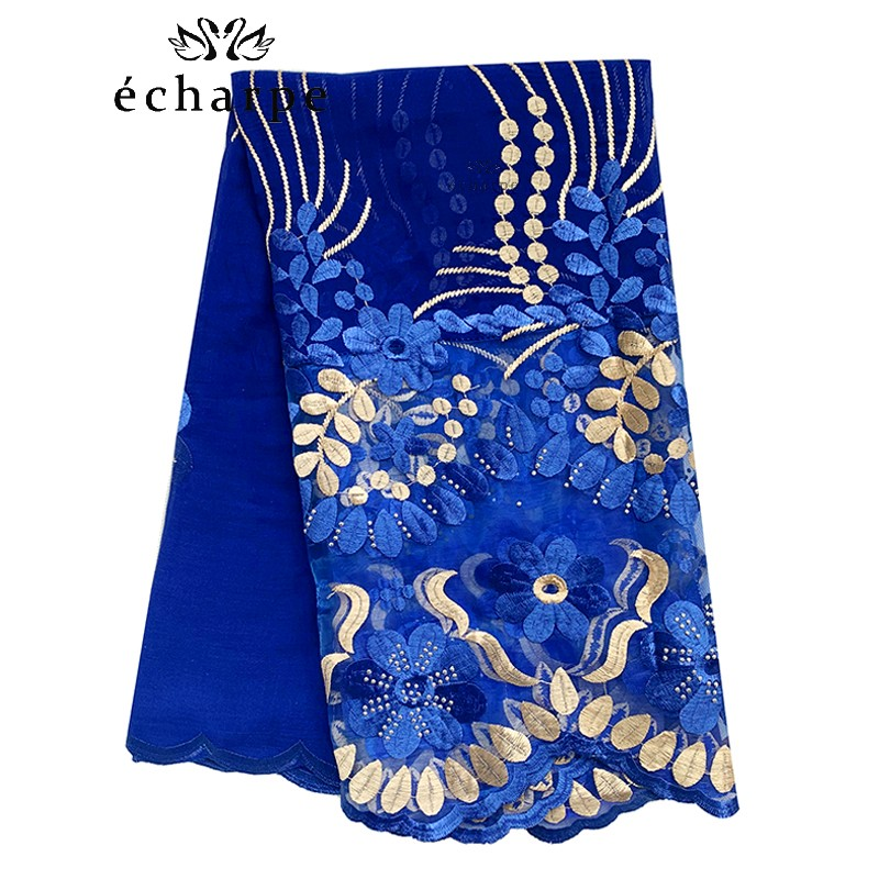 2020 New African Women Scarf 200*100cm  Economic Cotton Splicing Net Floral Embroidery Women Scarf For Shawls BH329
