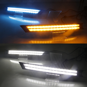 Image 4 - 2Pcs For Mazda CX 5 CX5 2017 2018 2019 Driving DRL Daytime Running Light fog lamp Relay LED yellow turn Daylight style