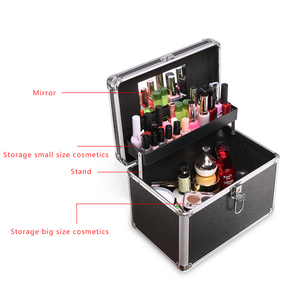 Image 4 - Makeup Bag Suitcase Women Multifunction Travel Cosmetic Bag Neceser Professional Beauty Nail Art Tool Cosmetic Storage Bags Case