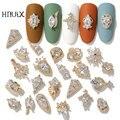 HNIUX 2 штуки 3D металлический Циркон дизайн ногтей ювелирные изделия роскошный жемчуг кулон украшение Топ Кристалл Маникюр бриллиант амулет