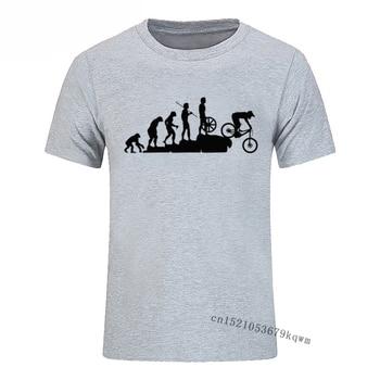 Ciekawe kolarstwo górskie ewolucja koszulka męska topy Tee rowerowa koszulka na co dzień dla mężczyzn 3D drukowane Harajuku t-shirty
