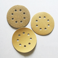 5 8 Hole 60/80/120/150/220 Grit Grinding Sanding Disc Flocking Sandpaper Abrasive Tools Wood Metal Finishing