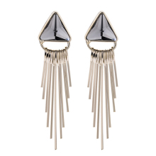 1 Pair of Earrings Exquisite Copper Elegant Geometric Vintage Triangle Jewelry Earrings Eardrop for Women Girl Lady