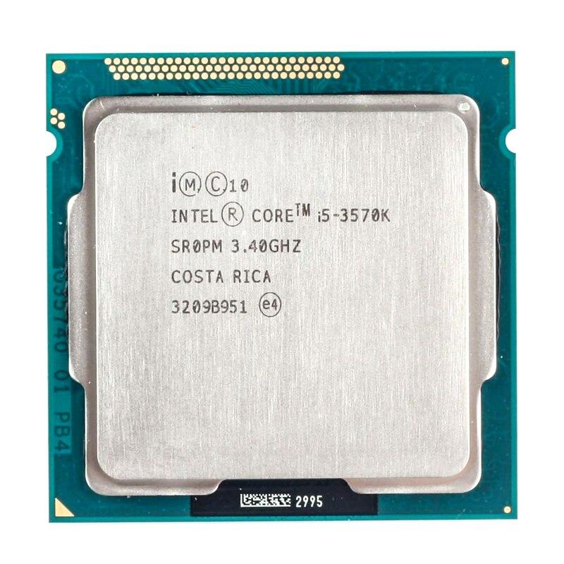 Intel core i5-3570K i5 3570 k 3.4 ghz processador central quad-core 6 m 77 w lga 1155 para desktop