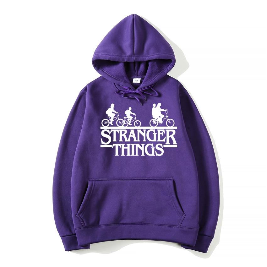 2019 Trendy Faces Stranger Things3 Hooded Mens Sweatshirts Oversized Hoodies for Autumn with Hip Hop Winter joker costume Hoodie