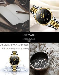 Image 4 - LIGE 2020 New Fashion Gold Watch Women Watches Ladies Creative Steel Womens Bracelet Watches Female Gift Clock Relogio Feminino