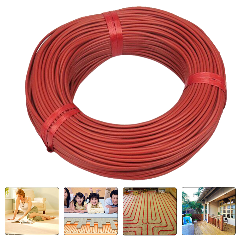 100m Wire Red Carbon Fiber 12K Farm Insulated Durable Floor Warm Heating Cable Infrared Multipurpose Home Electric Blanket