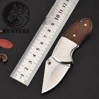 Tático 55hrc dureza 3cr13 lâmina de madeira maciça lidar com faca dobrável acampamento caça sobrevivência bolso edc ferramenta|Facas| |  -