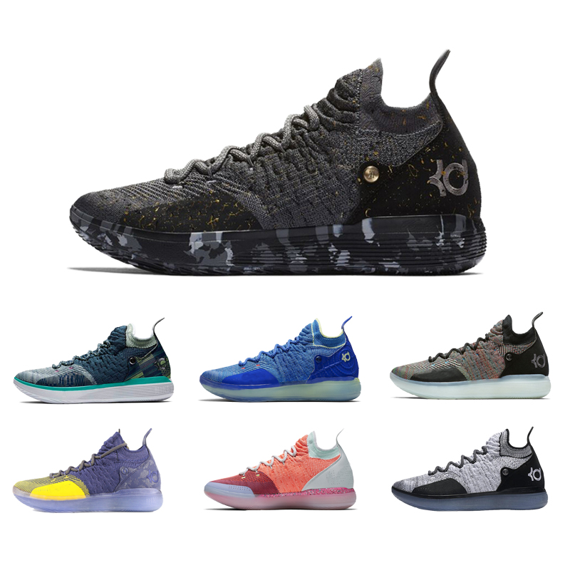 2019 Basketball Shoes KD10 KD12 KD11 Sneakers KD 11 12 10 Royal Mammary Cancer Black Moon 90s Kid University Red Kevines Durants