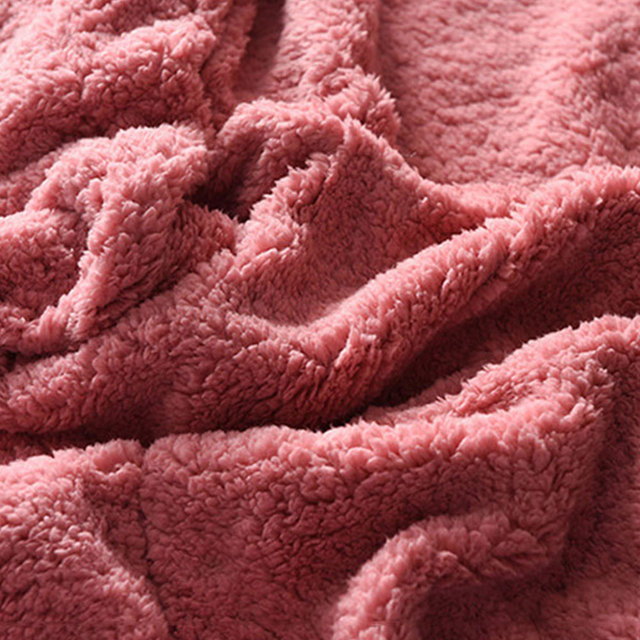 Couverture en cachemire couleur unie automne hiver | Couvertures de climatiseur en flanelle à Double couche, couverture chaude en velours sculpté en molleton de corail