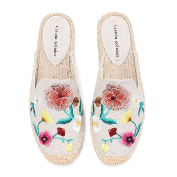 2020 Sale Top Hemp Rubber Zapatos De Mujer Tienda Soludos Slippers Mules Slides Shoes Espadrilles Sandals For Flat Womens Size - discount item  30% OFF Women's Shoes