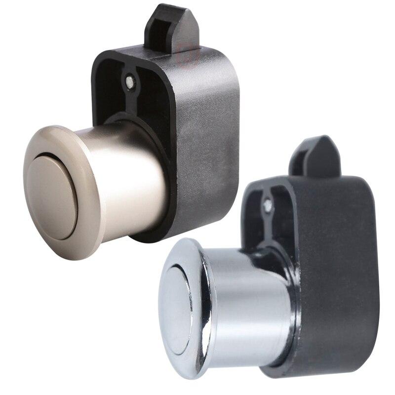 Silver Lock with Handle Parts Caravan Cabinet Cupboard Dresser Handle Lock