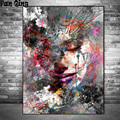 full square/round diamond painting abstract girl 5d diy diamond painting colorful lady mosaic rhinestone picture room decoration