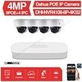 Dahua 4MP 8 + 4 камеры видеонаблюдения комплект NVR4108-8P-4KS2 ip-камеры IPC-HDBW4433R-ZS 5X ZOOM P2P комплекты видеонаблюдения простая установка