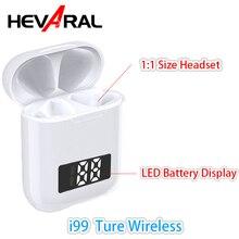 i99 TWS V5.0 LED Battery Display Handsfree Bluetooth Headset Touch Earphones 6D Noise Cancel Wireless Charging PK i200 G02 i500