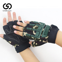 New Kids Tactical Fingerless Gloves for 5-13 years old Military Armed Anti-Skid Sports Outdoor half Finger Boys Girls