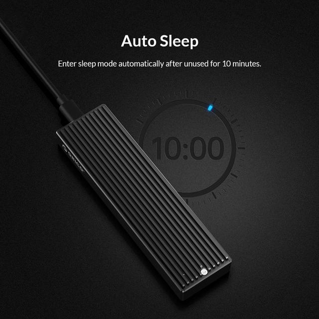 ORICO LSDT M.2 NVMe Case USB C Gen2 10Gbps PCIe SSD Case M2 SATA NGFF 5Gbps SSD Case Tool Free For 2230/2242/2260/2280 SSD 6