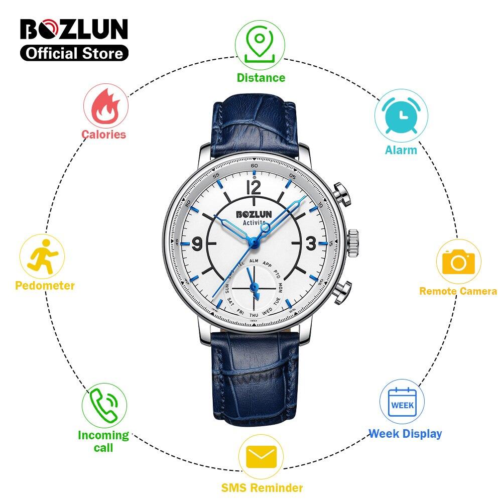 Bozlun H8 créatif Quartz montre intelligente Calories podomètre SMS rappel dappel Fitness tracker Smartwatch pour xiaomi iphone huawei