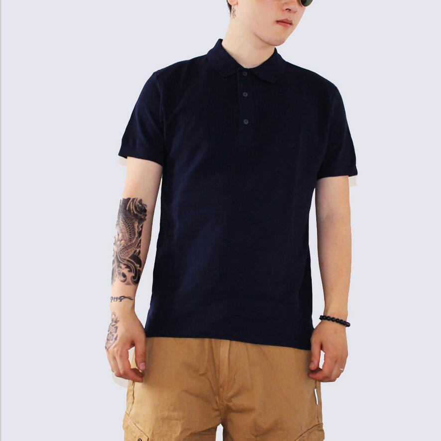 2019 New BB33 Summer Fashion   Polo   Shirt Men Clothing Short Sleeve Cotton Tops Business & Casual Solid Loose Male   Polo   Shirt