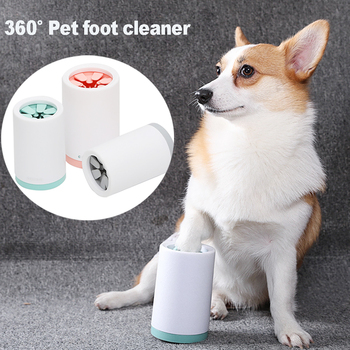 Pet Dog Foot Cleaner Cup miękkie silikonowe grzebienie przenośne Pet Foot Washer szczotka do czyszczenia szybko umyć brudne Pet Foot Cleaner tanie i dobre opinie CN (pochodzenie) foot cleaning